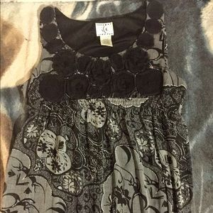 Cute black and grey floral dress